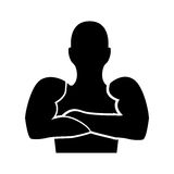 Strong man human figure Royalty Free Stock Images