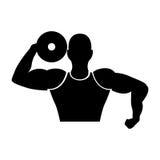 Strong man human figure Stock Image