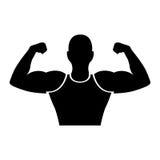 Strong man human figure Stock Photos