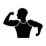 Strong man human figure Royalty Free Stock Image