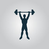 Strong man icon illustration of fitness Royalty Free Stock Image