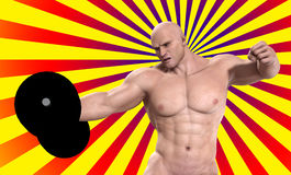 Strong Man Lifting Weight Royalty Free Stock Photos