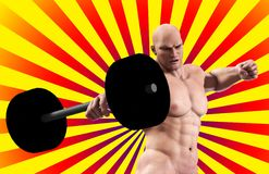 Strong Man Lifting Weight Royalty Free Stock Photography