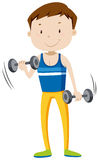 Strong man lifting weights Royalty Free Stock Photography