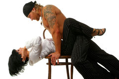 The strong man and the passionate woman Stock Photography