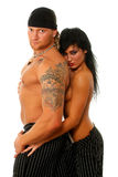 The strong man and the passionate woman Royalty Free Stock Photography