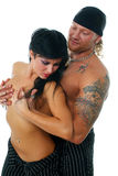 The strong man and the passionate woman Stock Images