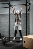 Strong man pull-up workout Stock Photo