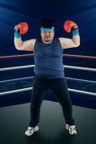 Strong man ready to boxing Royalty Free Stock Photography