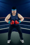 Strong man ready to boxing 1 Royalty Free Stock Photos