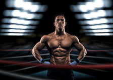 A strong man in the ring Stock Photos