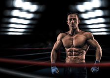 A strong man in the ring Royalty Free Stock Photo