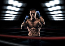 A strong man in the ring Stock Photo