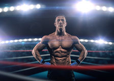 A strong man in the ring Stock Images