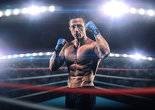 A strong man in the ring Royalty Free Stock Images