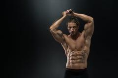 Strong Man With Samurai Sword Stock Image