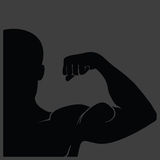 Strong man silhouette Stock Photography