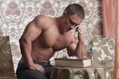 Strong man strong play Stock Photos
