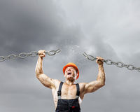 Strong man Royalty Free Stock Photo