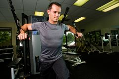 Strong Man Working Out Royalty Free Stock Photography