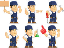 Strong Mechanic Mascot 6 Royalty Free Stock Image