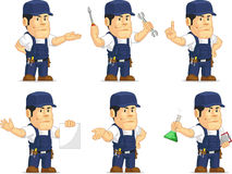 Strong Mechanic Mascot 10 Stock Images