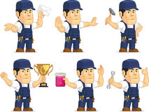 Strong Mechanic Mascot 9 Royalty Free Stock Photo