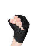 Strong, Men's hand in glove Royalty Free Stock Images