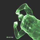 Strong men. Sport symbol. Vector ilustration for design. Strong men. Sport symbol. 3d model of man. Vector ilustration for design Stock Images