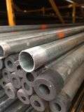 Strong Metal pipe. Line back normal royalty free stock image