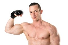 MMA fighter isolated in white Stock Image