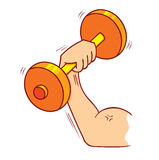 Strong muscle Stock Image