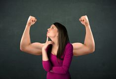 Strong and muscled arms concept Stock Photography