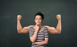 Strong and muscled arms concept Royalty Free Stock Photography