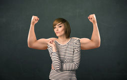 Strong and muscled arms concept Stock Image