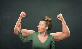Strong and muscled arms concept Royalty Free Stock Photos