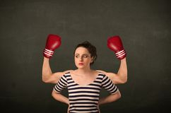 Strong and muscled boxer arms Royalty Free Stock Image
