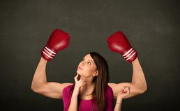 Strong and muscled boxer arms Royalty Free Stock Images