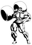 Strong muscular bodybuilder Royalty Free Stock Image