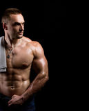 Strong muscular man Royalty Free Stock Photography