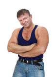 Strong muscular man Stock Photos