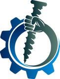Strong nail power logo vector illustration