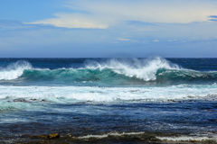 Strong ocean currents stock image