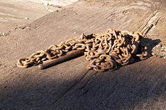 Strong old rusted chain Stock Photography