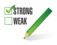 Strong over weak selection illustration design Royalty Free Stock Photography