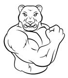 Strong Panther. Eps 10  illustration Design Stock Photography