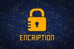 Strong password encription. Data protection from hacking. Cyber security. Data encryption. Protect information in network and Inte Stock Image