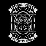 Strong People Are Harder To Kill royalty free illustration