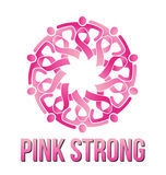 Strong Pink People Stock Photo
