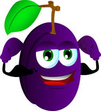 Strong plum Stock Photo